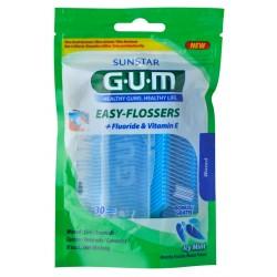 Зубная нить GUM EASY FLOSSERS VIT-E, с фторидом, 30 шт.